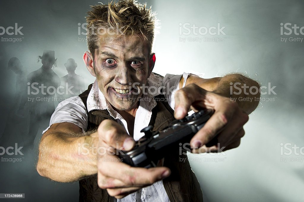 Zombie Gamer stock photo