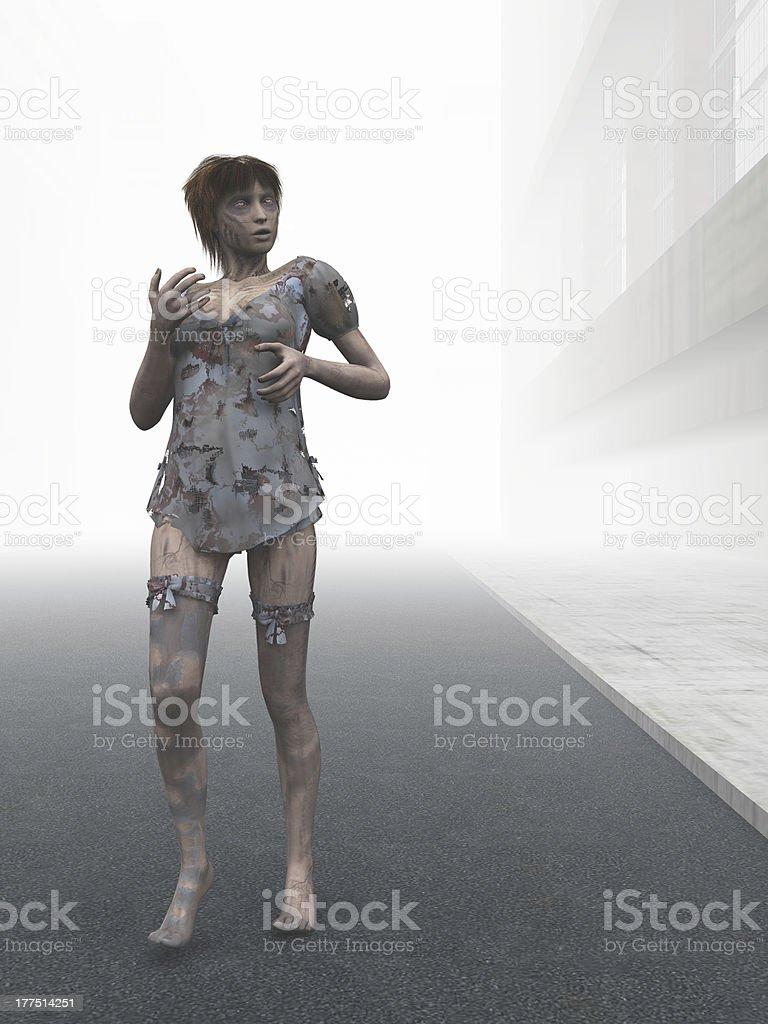 Zombie girl royalty-free stock photo