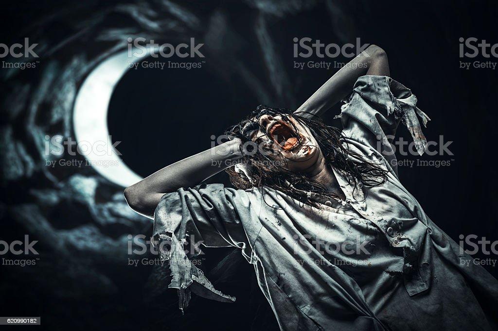 Zombie garota  foto royalty-free