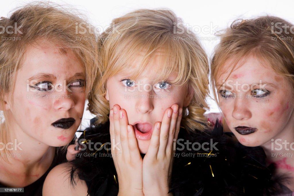 Zombie Girls royalty-free stock photo