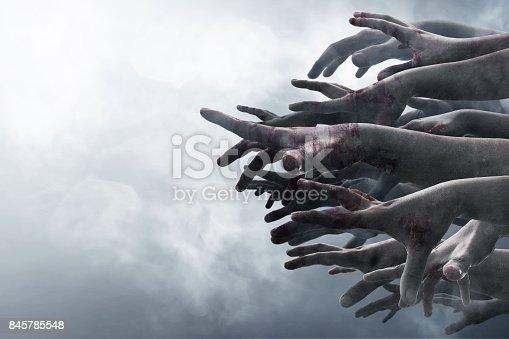 istock Zombie hands 845785548