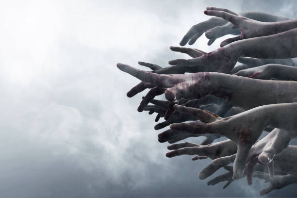 zombie hands - apocalypse stock photos and pictures