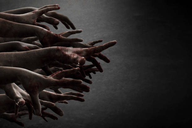 zombie hands - spooky stock pictures, royalty-free photos & images