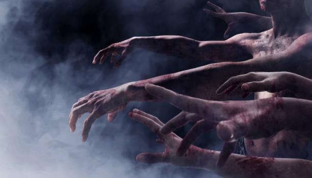 zombie hands - zombie apocalypse stock photos and pictures