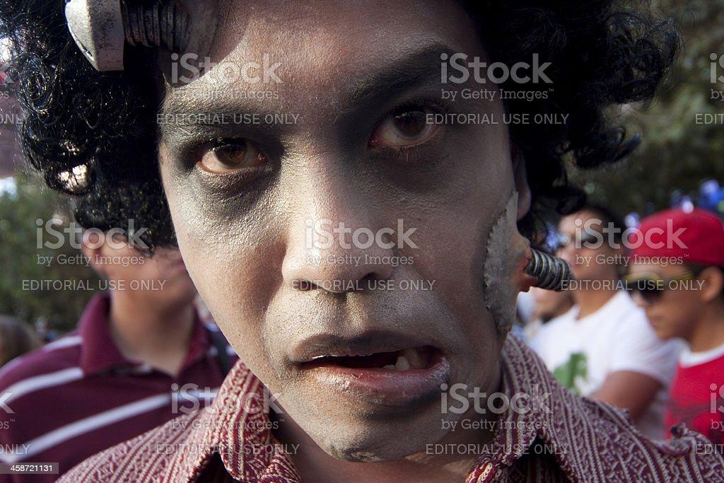 Zombie head royalty-free stock photo