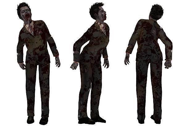 Zombie in business suit stock photo