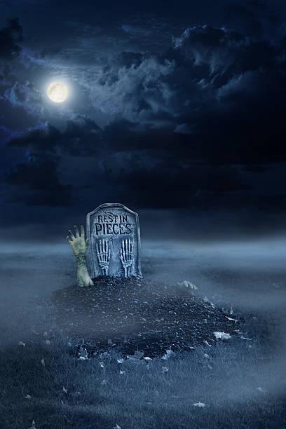 zombie wachsender von cecil rhodes - halloween grabsteine stock-fotos und bilder
