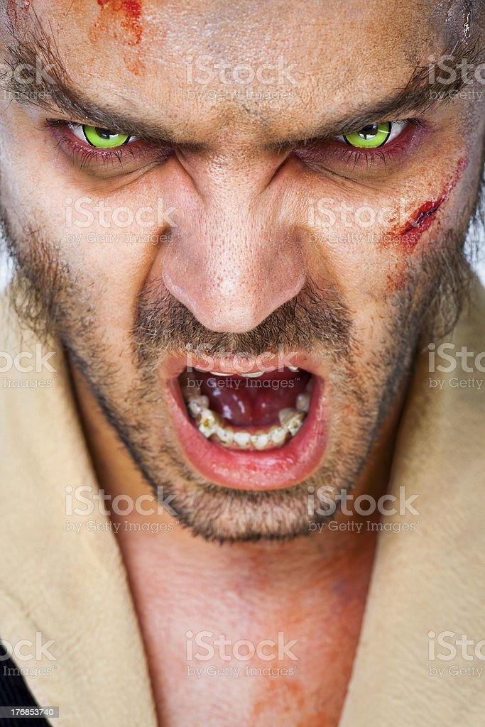 zombie scary eyes stock photo
