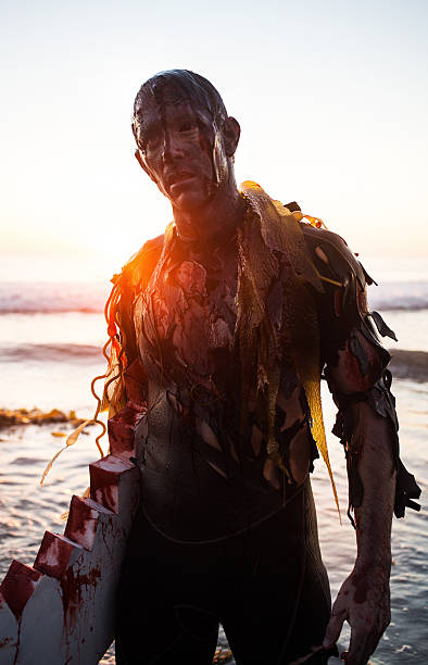 zombie surfer - perpetual motion stock photos and pictures