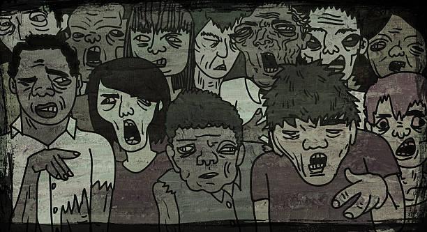 zombie walk - zombie apocalypse stock photos and pictures