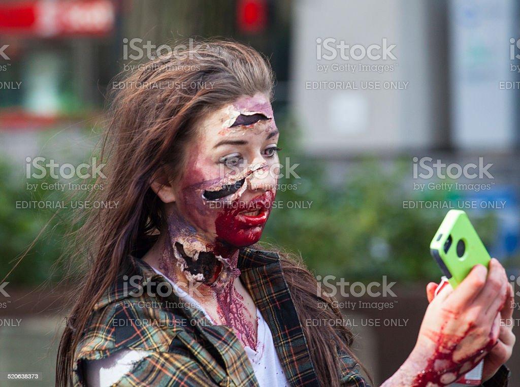 Zombie Walk (Selfie) stock photo