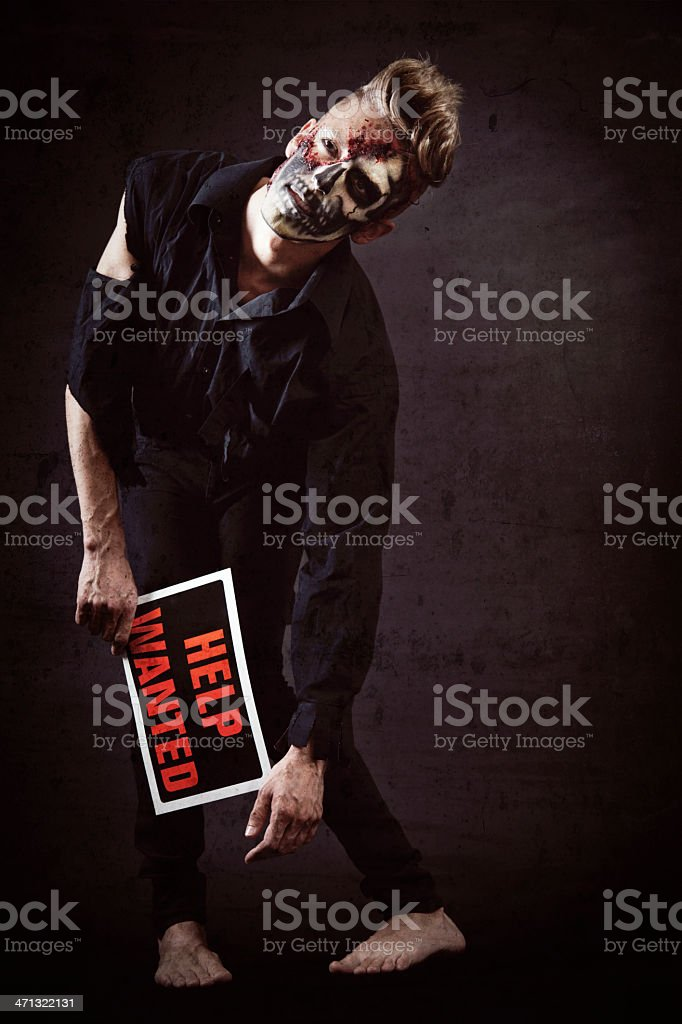 Zombie Wants Help royalty-free stock photo