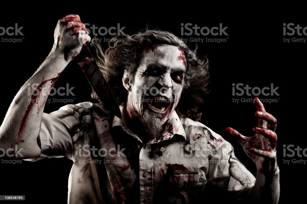 Zombie with a Knife royalty-free stock photo