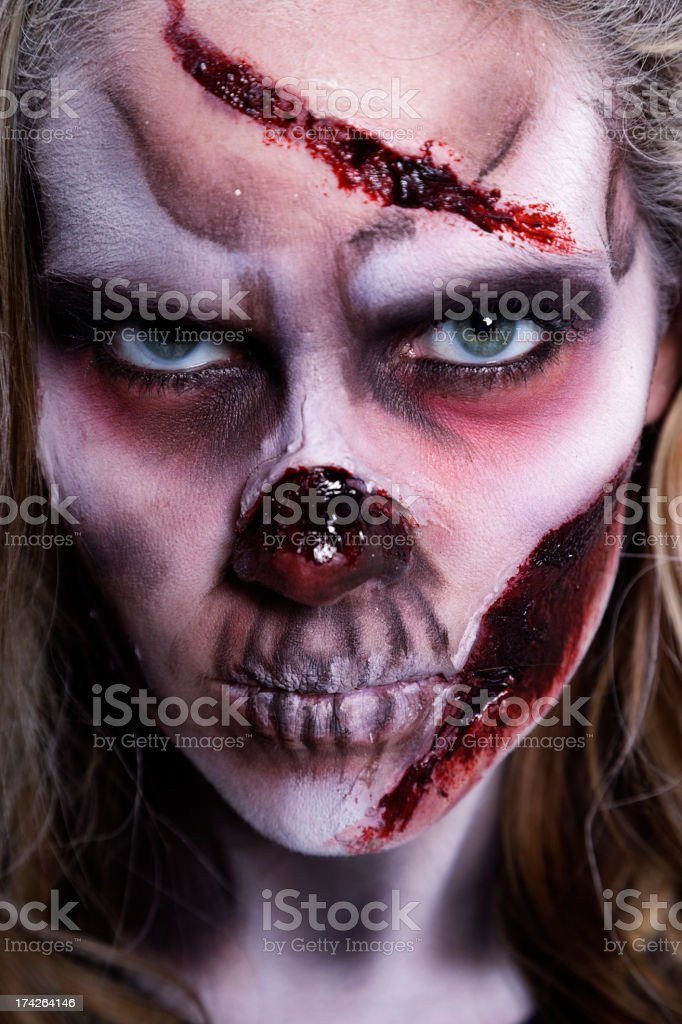 Zombie Woman royalty-free stock photo