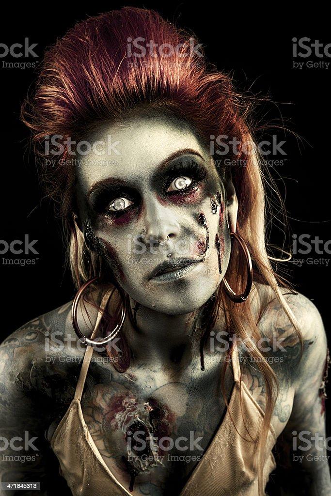 Zombie Woman royalty-free stock photo