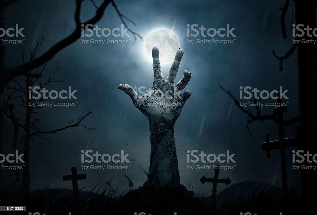 Zombie's hand stock photo