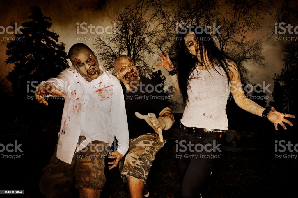 Zombies royalty-free stock photo