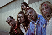 zombies waiting for bus
