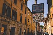 Rome, Lazio, Italy - June 25 2020: Italian Zona Traffico Limitato street sign in Rome, restricted driving zone in Old City Center