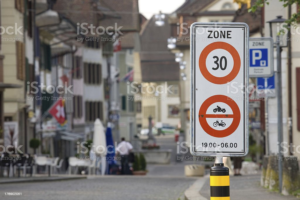zone 30 stock photo