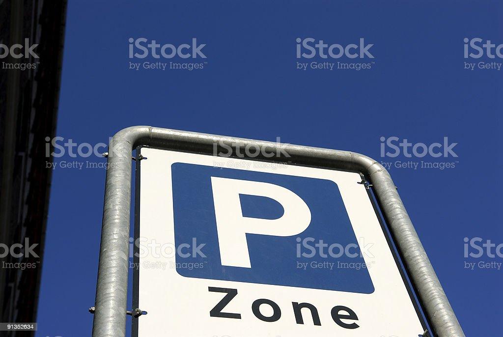P Zone royalty-free stock photo