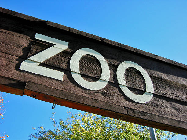 Zoo A sign over the entrance to the zoo. zoo stock pictures, royalty-free photos & images
