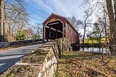istock Zook's Mill Covered Bridge Crossing Cocalico Creek 1193574332