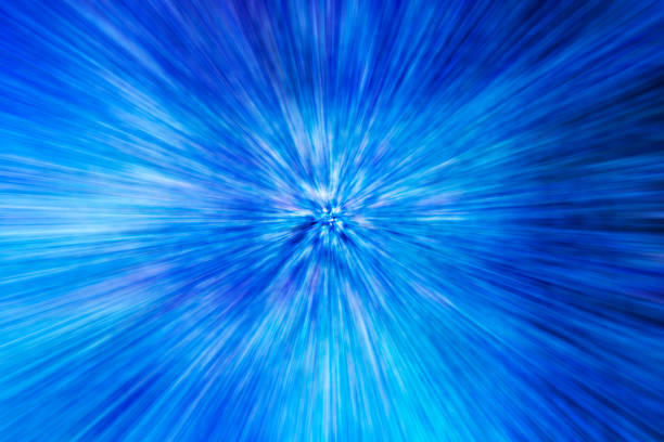 Zoom blurred blue light abstract background stock photo