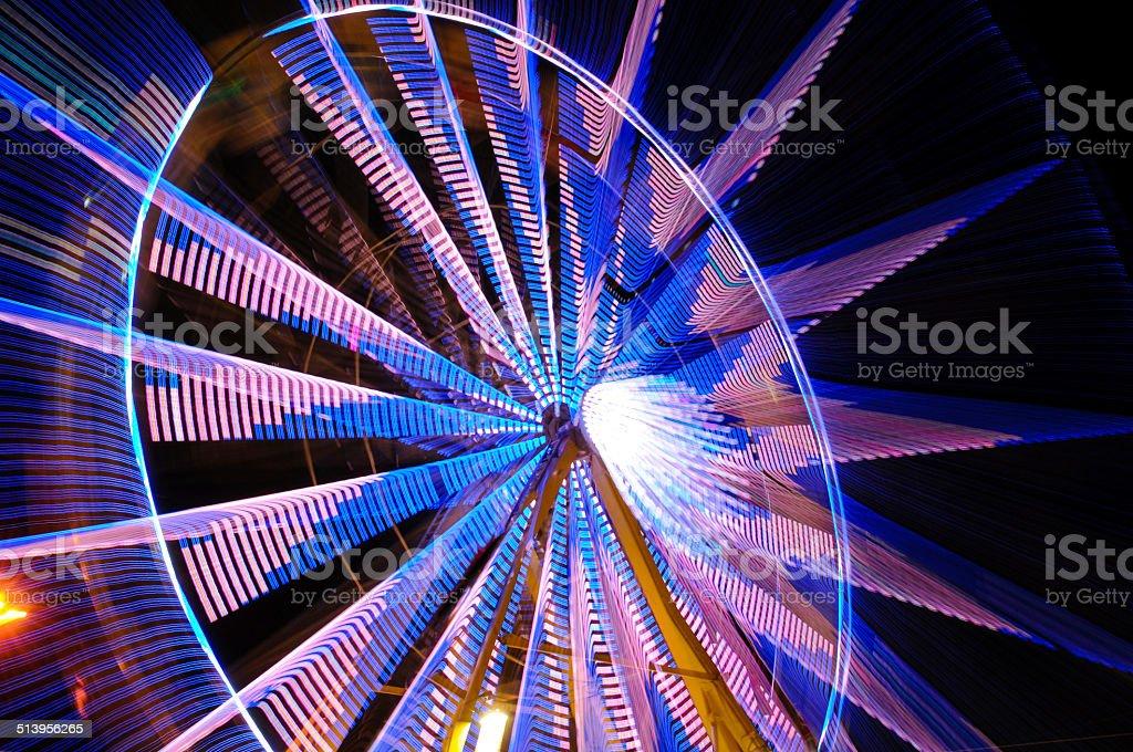 zoom ferris wheel stock photo