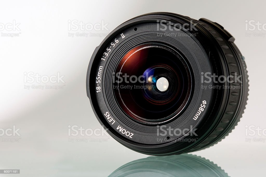 Zoom Lens on light background royalty-free stock photo