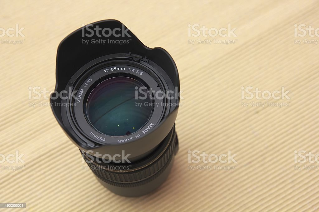 DSLR zoom lens stock photo