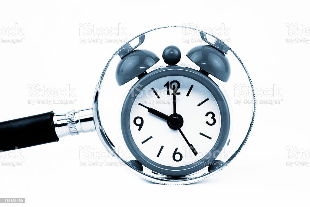 Zoom to alarm clock royalty-free stock photo