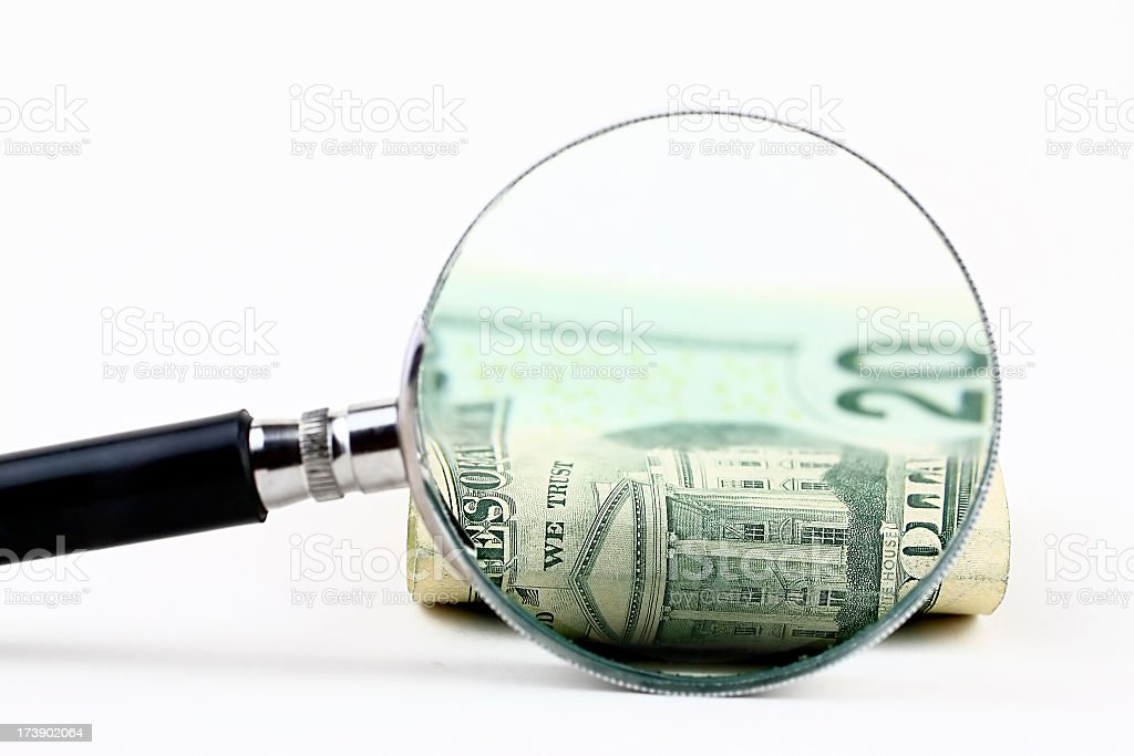 Zoom to money royalty-free stock photo