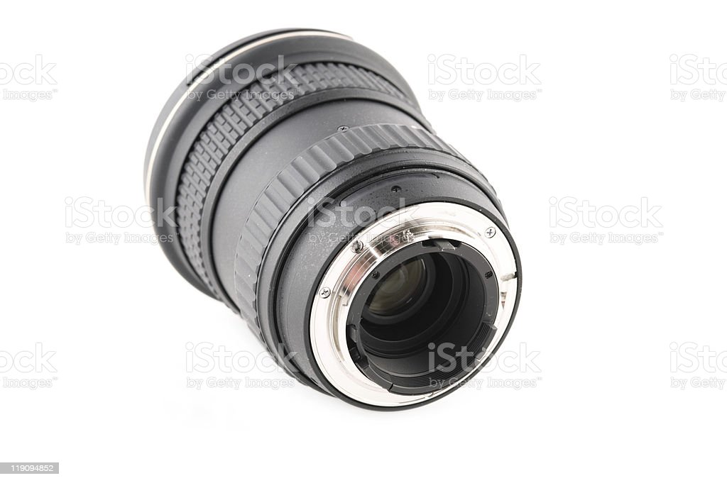 zoom wide angle lens for slr camera royalty-free stock photo