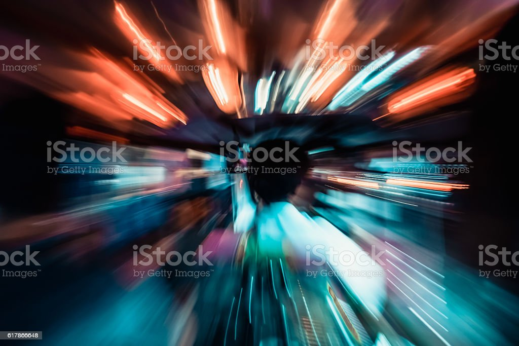 zooming and streaking light – Foto