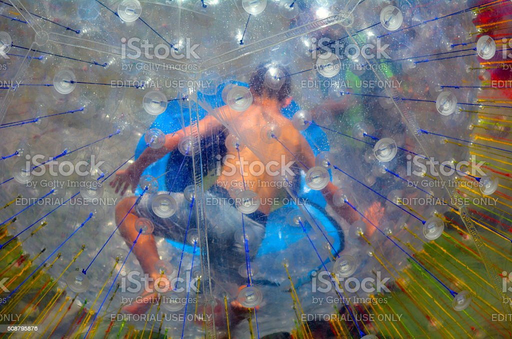 OGO Zorbing Rotorua - New Zealand stock photo