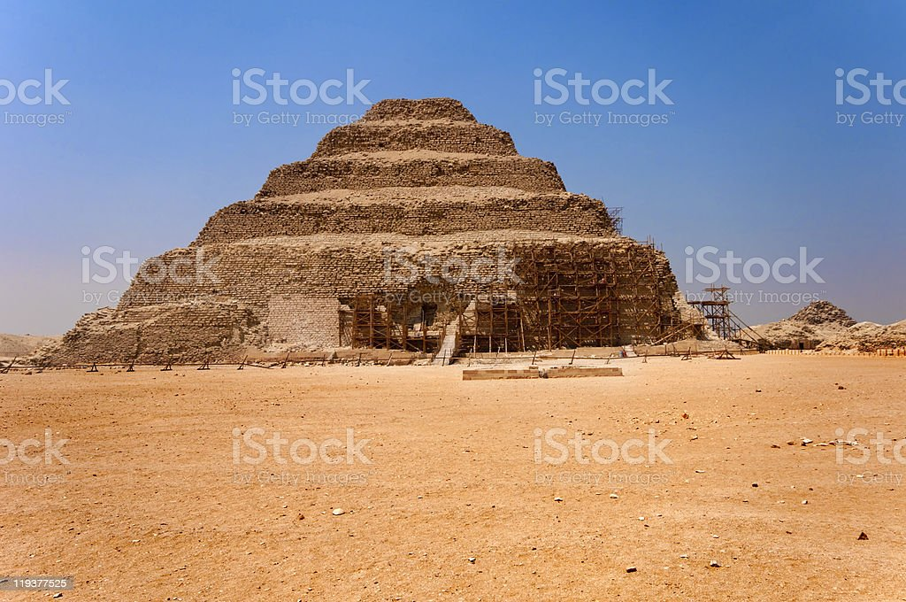 Zoser's Step Pyramid from 2650BC. stock photo