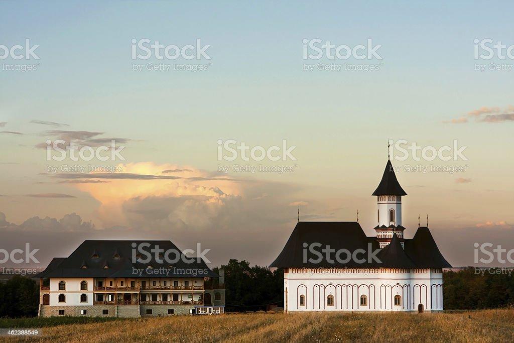 Zosin Monastery, Botosani Romania royalty-free stock photo