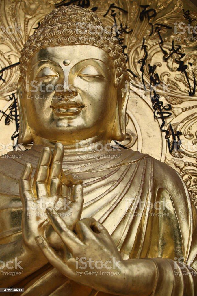 Złoty Budda w Darjeelingu stock photo