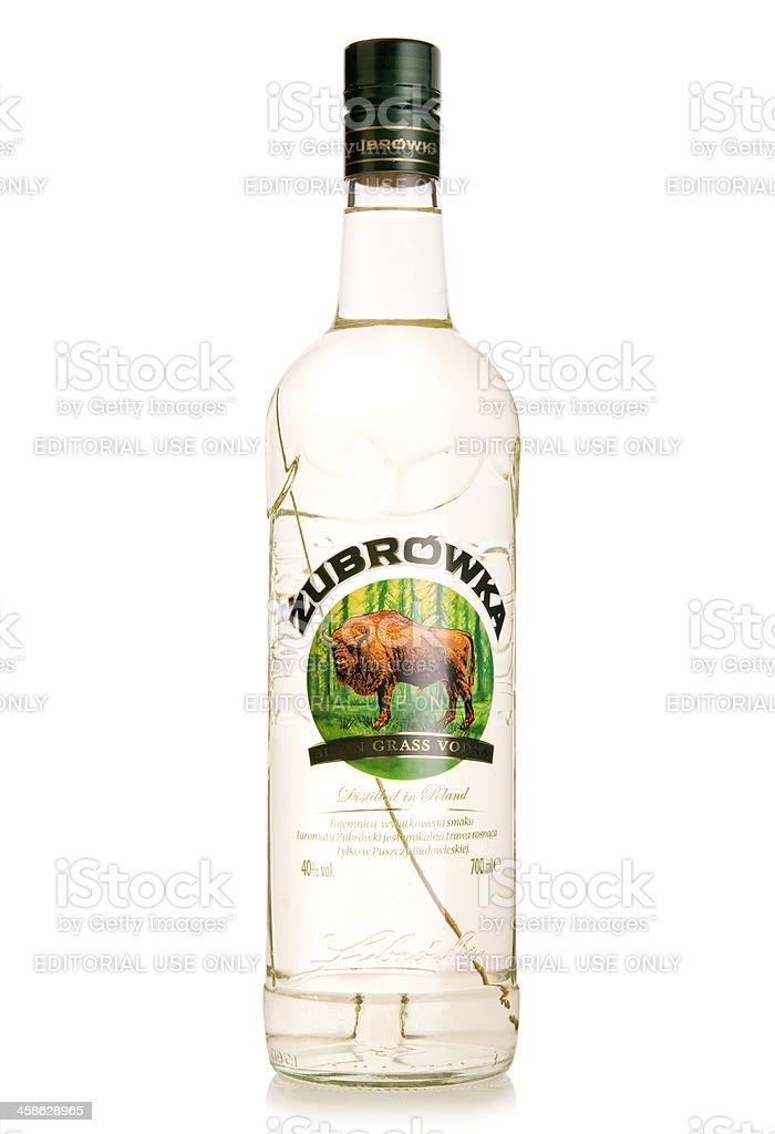 Zubrowka Polish vodka bottle royalty-free stock photo