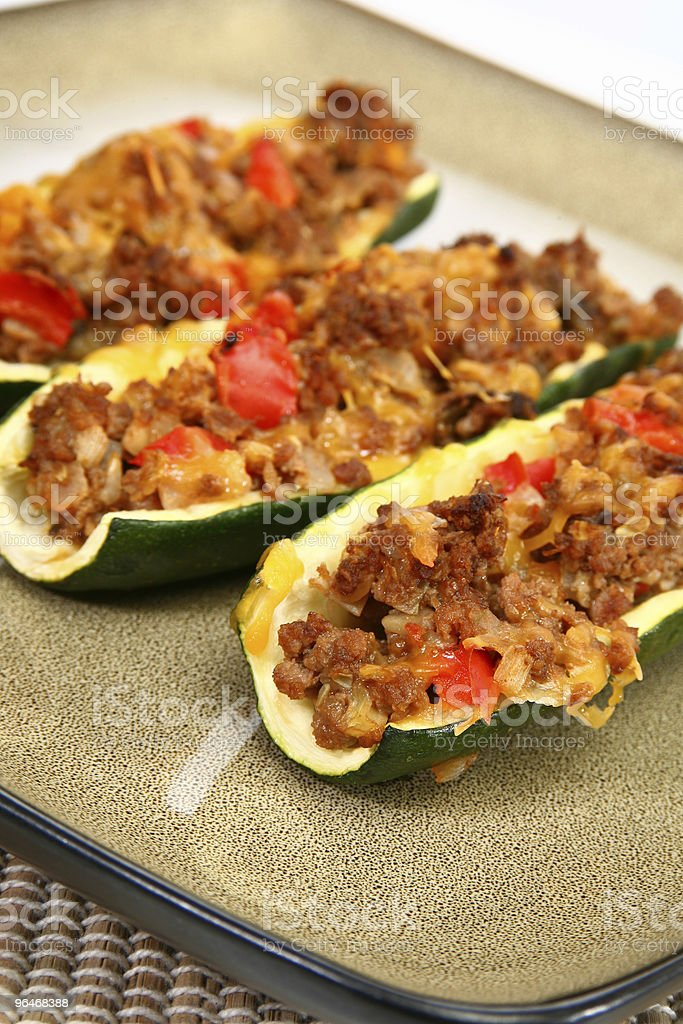 Zucchini Boat royalty-free stock photo