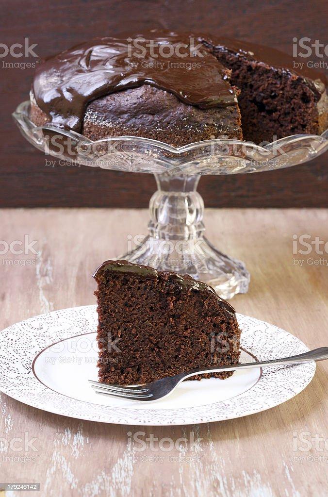 Zucchini chocolate cake royalty-free stock photo