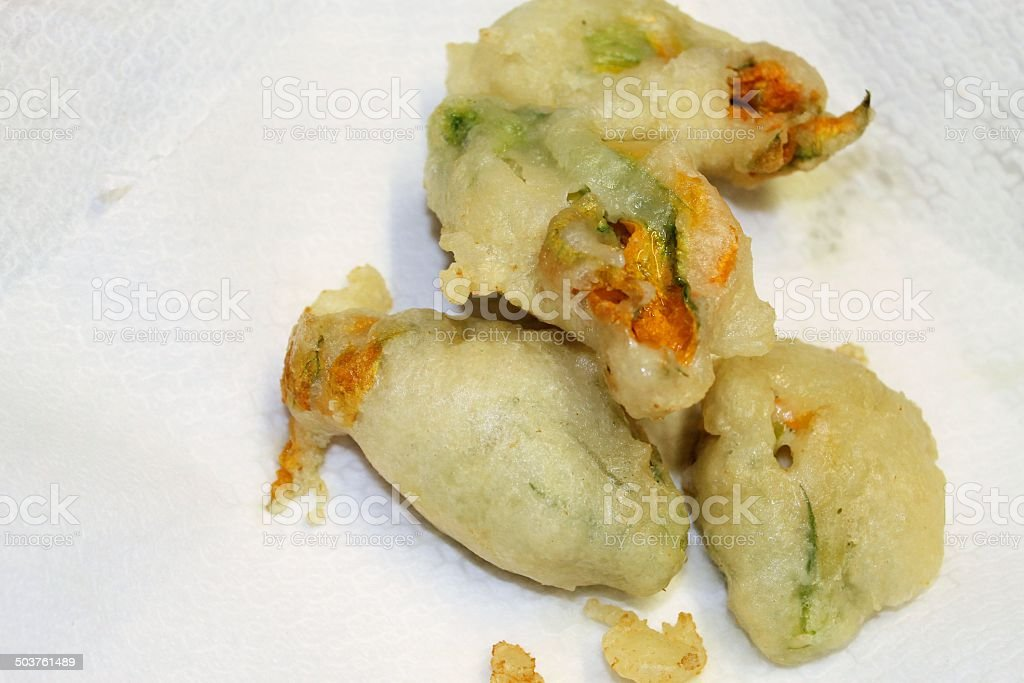 zucchini flowers royalty-free stock photo