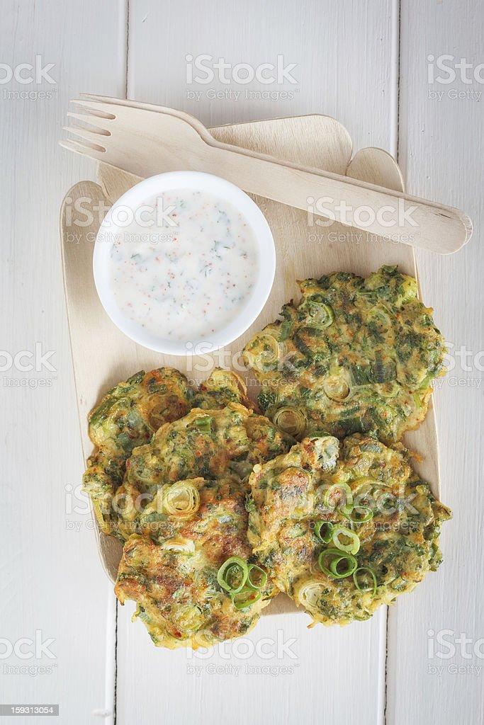 Zucchini Fritters royalty-free stock photo