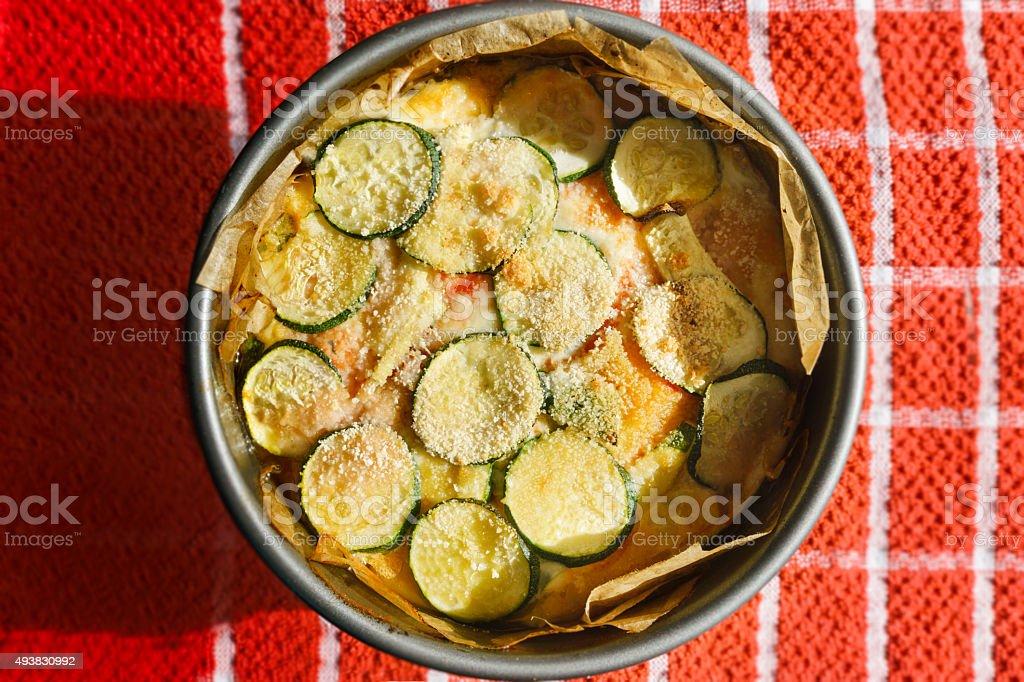 Zucchini Lasagna stock photo