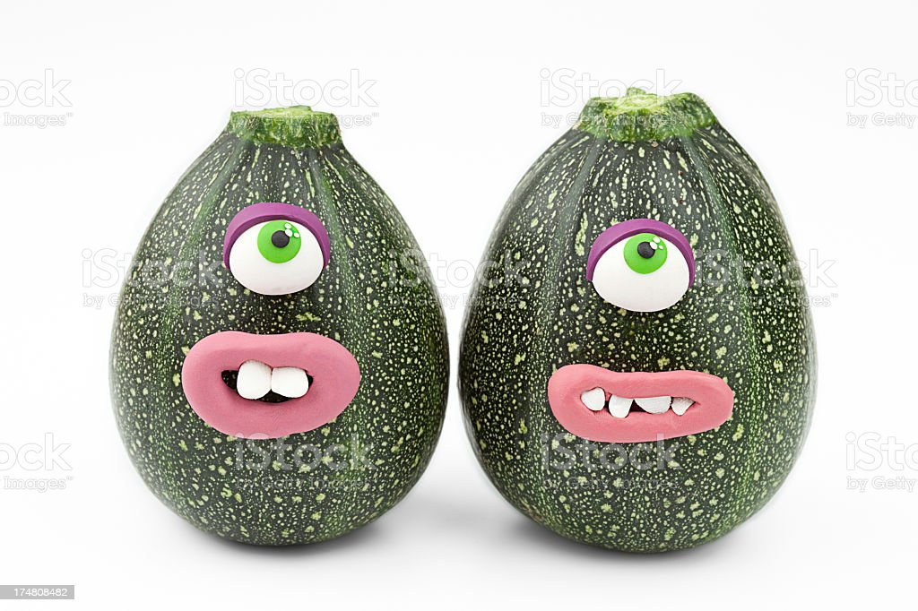 Zucchini monsters royalty-free stock photo