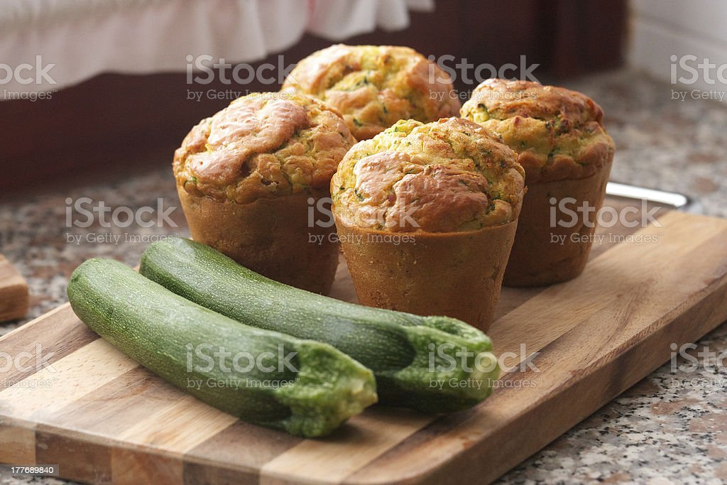 zucchini muffin stock photo