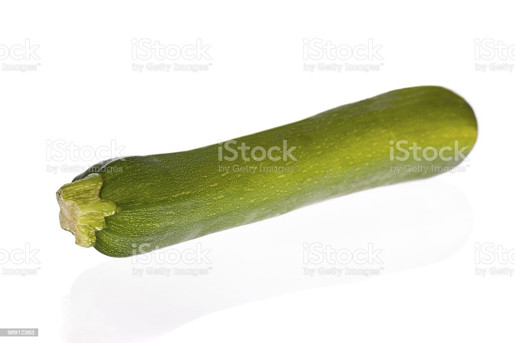 zucchini or courgette isolated on white royalty-free stock photo
