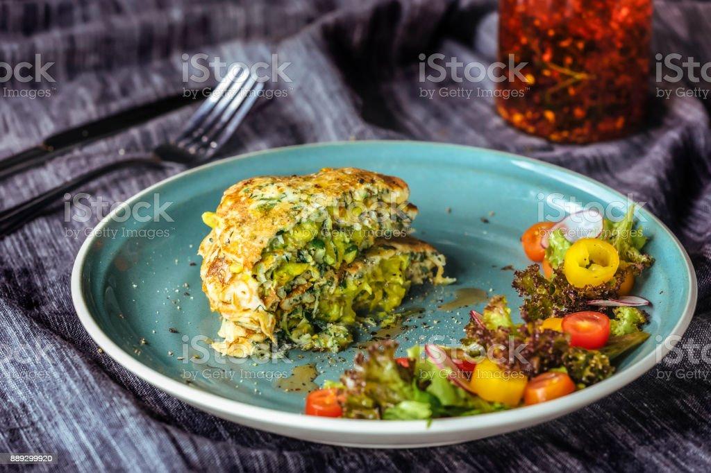 Zucchini Pancakes stock photo