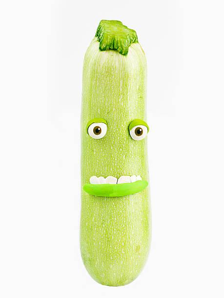 zucchini porträt - gefüllte zucchini vegetarisch stock-fotos und bilder